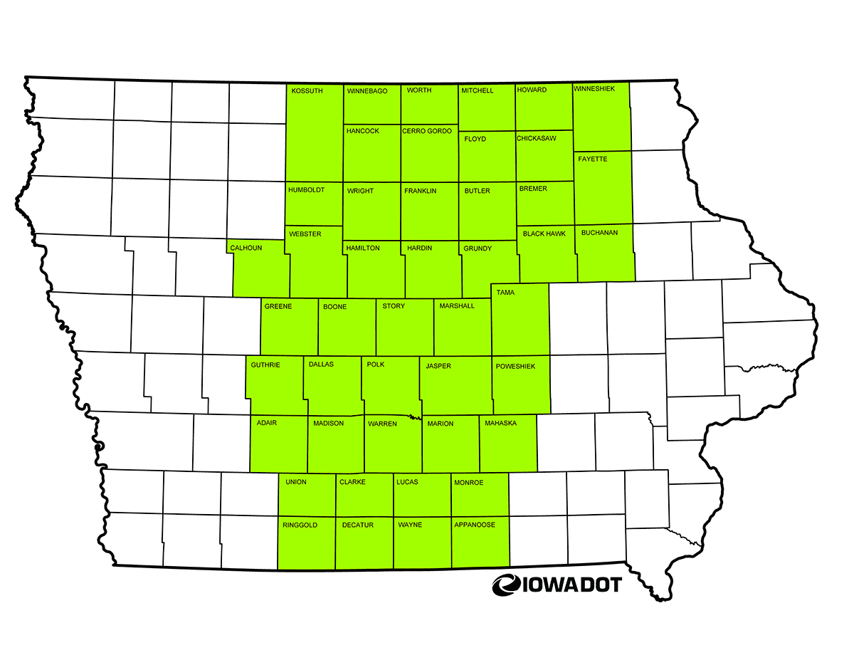 Sheet Metal Workers Local 45 Iowa Jurisdiction Map